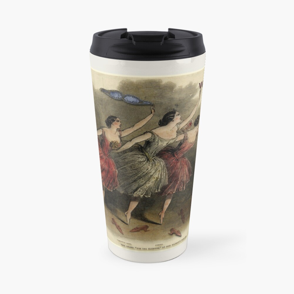 Weekends Ballerina Style - Ballet Dancers In A Beautiful Art Print Ready For The Weekend! Travel Mug