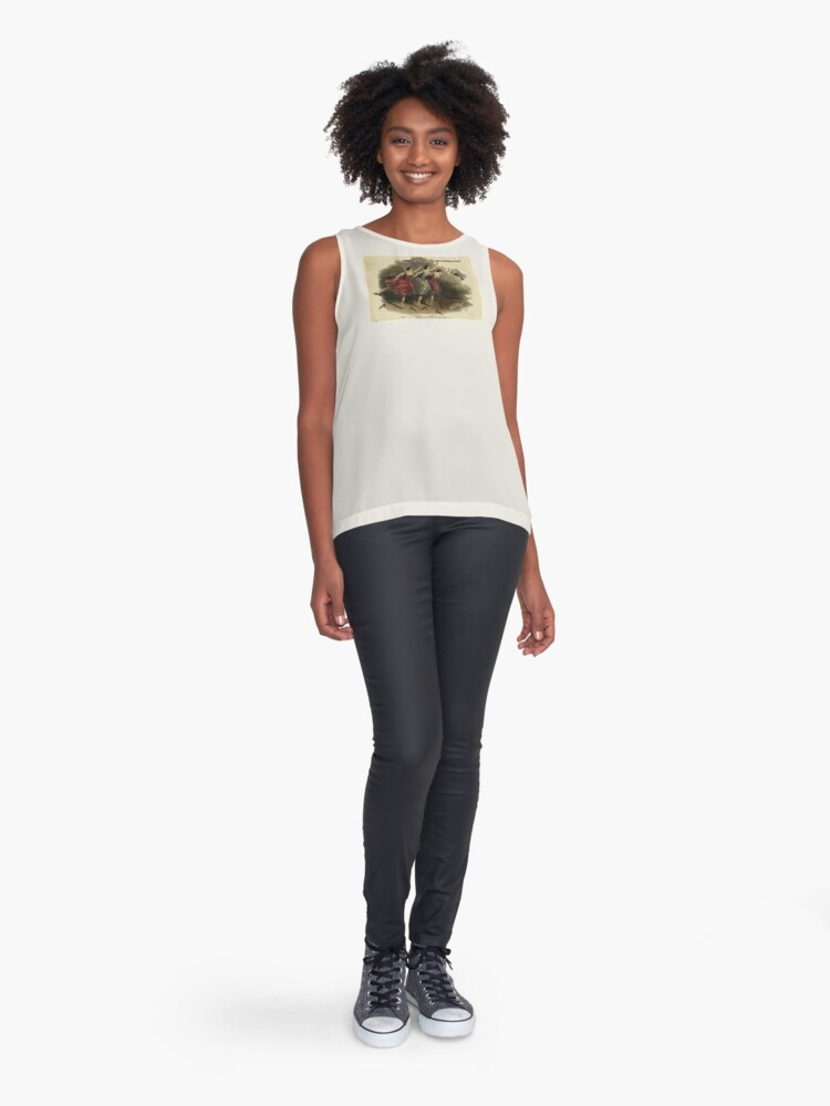 Alternate view of Weekends Ballerina Style - Ballet Dancers In A Beautiful Art Print Ready For The Weekend! Sleeveless Top