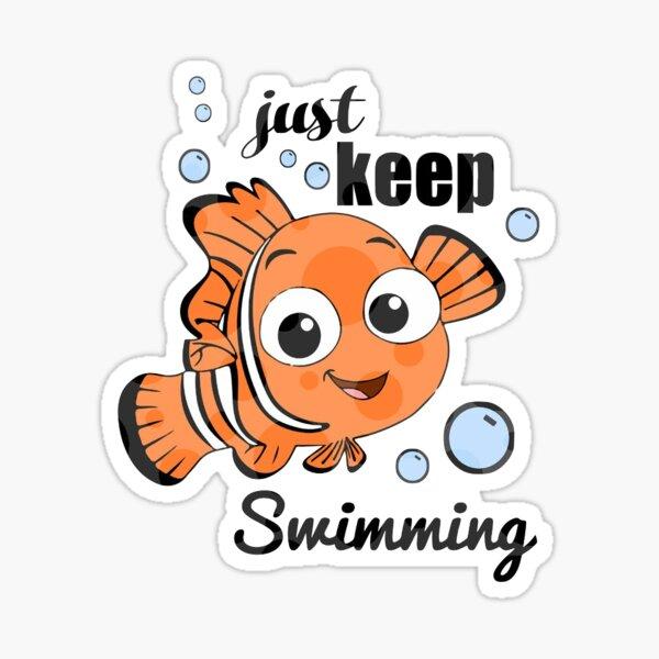 Continue de nager Sticker