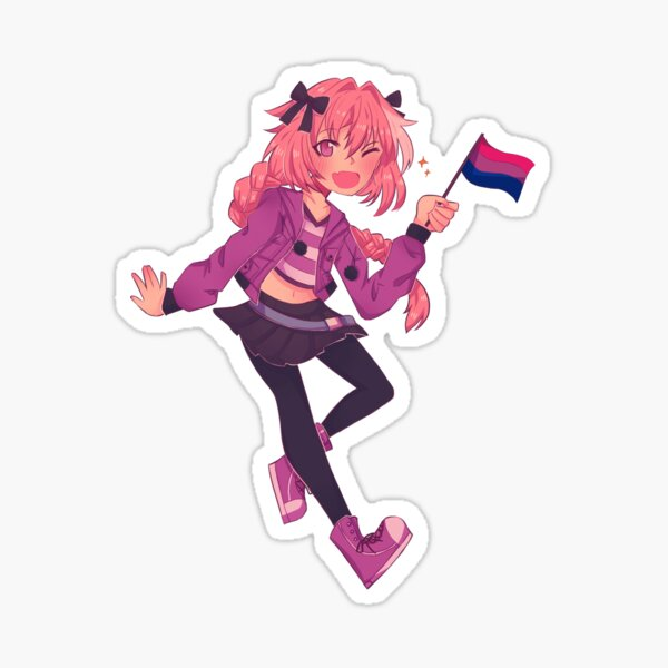 bisexual astolfo Sticker