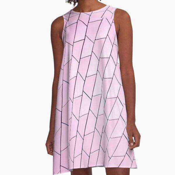 Pattern pink A-Line Dress