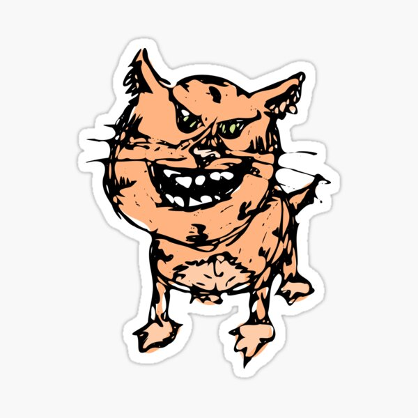 Smiling Cat Sticker