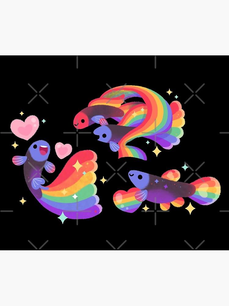 Rainbow guppy 5 by pikaole