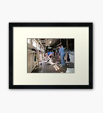 The Shearer & The Rouseabout  Framed Print