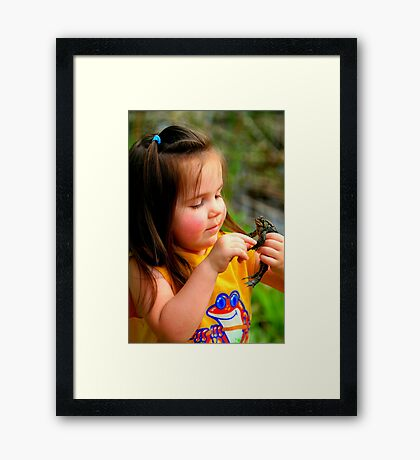 Girl Meets a Prince Framed Print