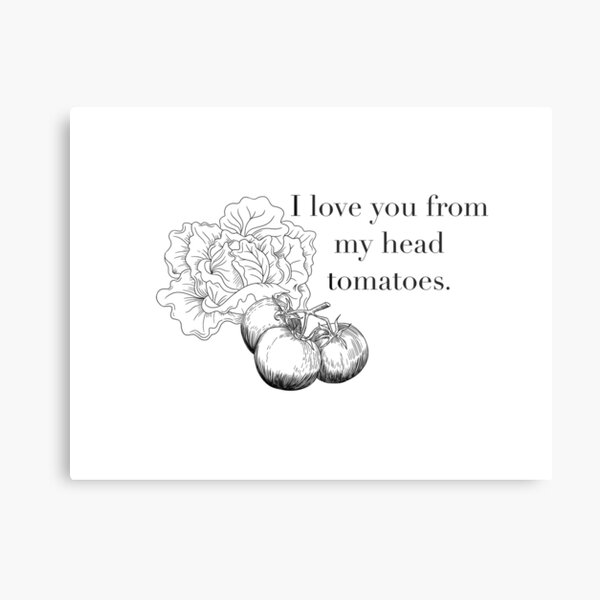 My head tomatoes (black and white) Metal Print
