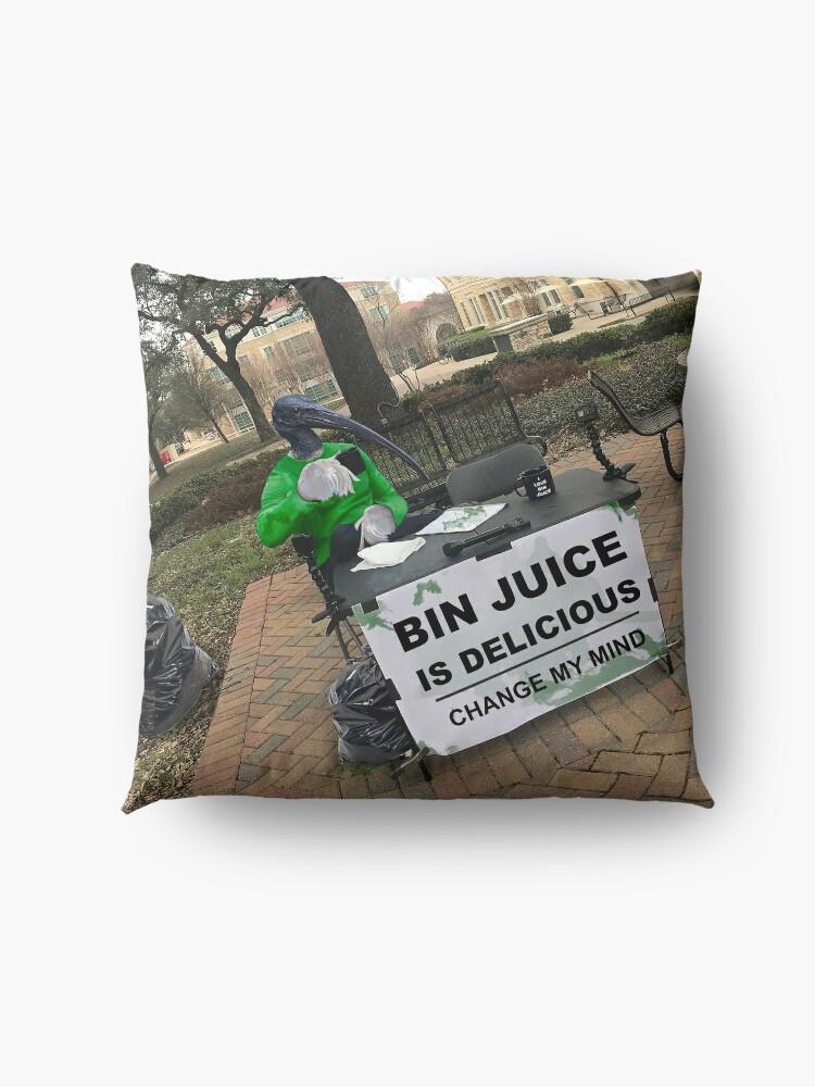 Alternate view of Bin Juice Meme Floor Pillow