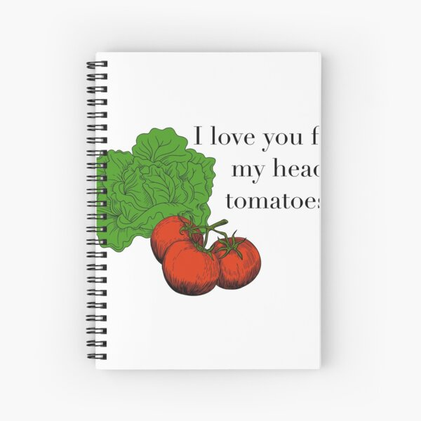 Head tomatoes (colour) Spiral Notebook