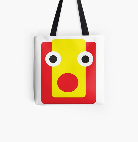 cute cartoon face design abstract  All Over Print Tote Bag