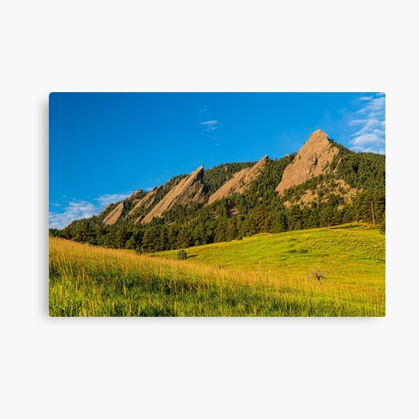 Boulder Colorado Flatirons Sunrise Golden Light Canvas Print