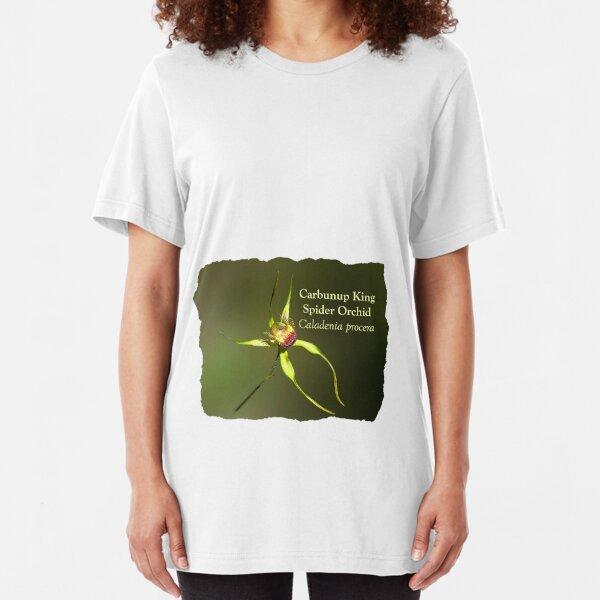 Carbunup King Spider Orchid, Caladenia procera Slim Fit T-Shirt