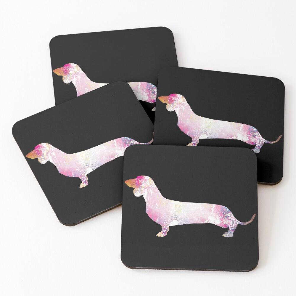 Paint Splash Dachshund Coasters (Set of 4)