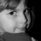 Black & White Portrait Of Young Child von Evita