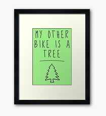 My Other Bike Is A Tree Framed Print