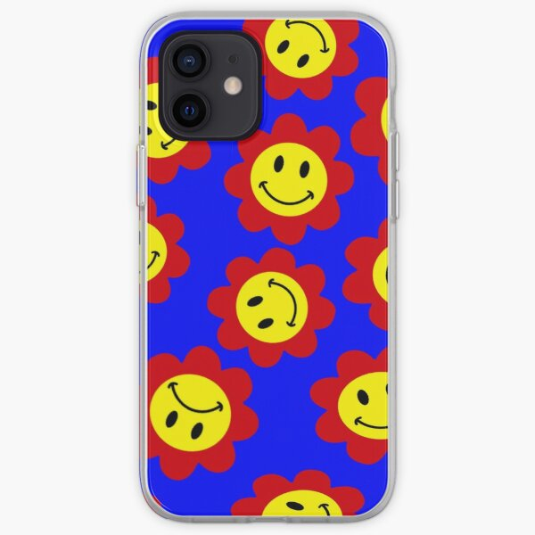 smiley/smiling/happy flowers primary colors iPhone Soft Case