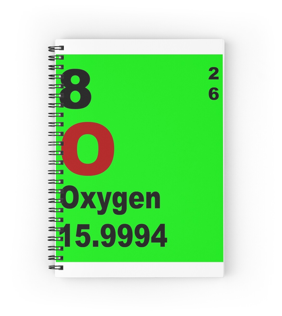 Oxygen periodic table of elements spiral notebooks by oxygen periodic table of elements by walterericsy gamestrikefo Images