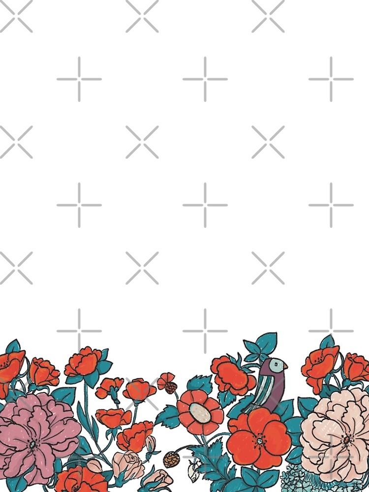 Asian Flowers-White von rauschsinnig