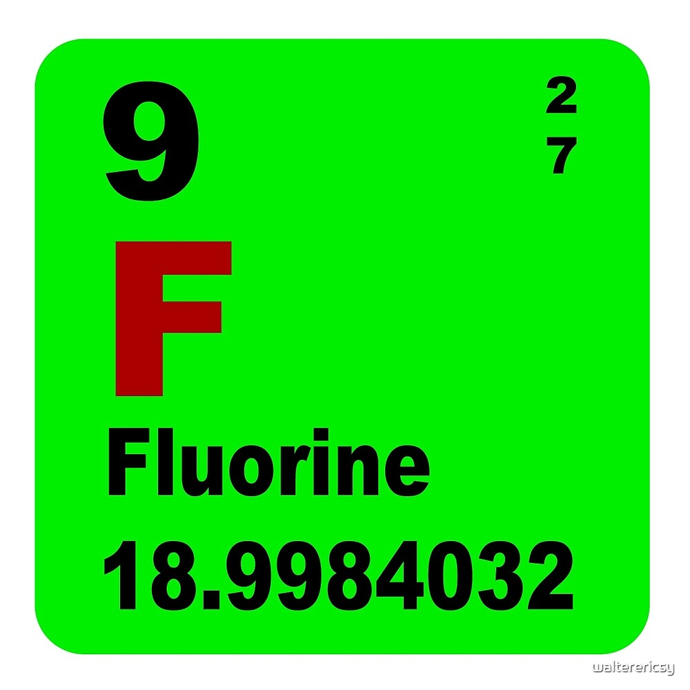 Fluorine periodic table of elements by walterericsy redbubble fluorine periodic table of elements by walterericsy gamestrikefo Gallery
