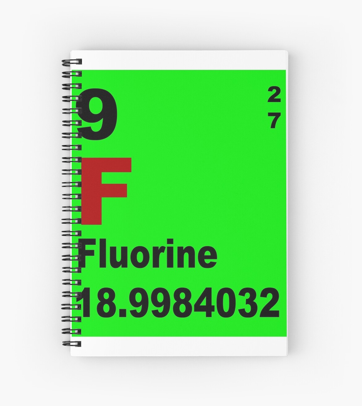 Fluorine periodic table of elements spiral notebooks by fluorine periodic table of elements by walterericsy gamestrikefo Gallery