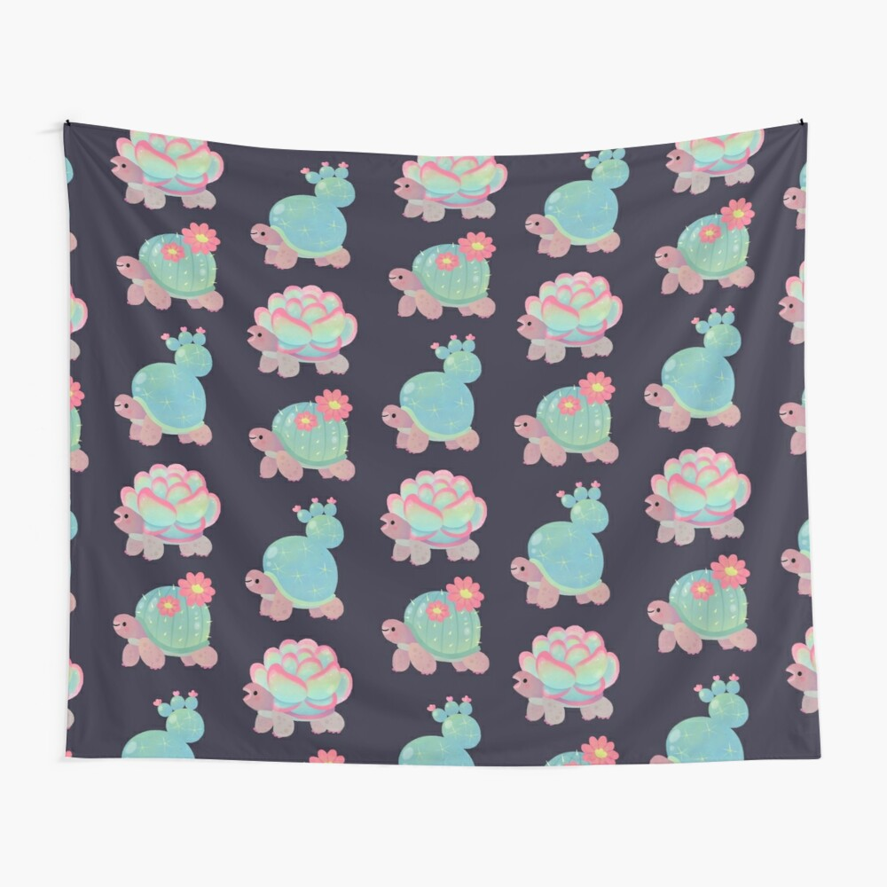 Cactus tortoise Wall Tapestry