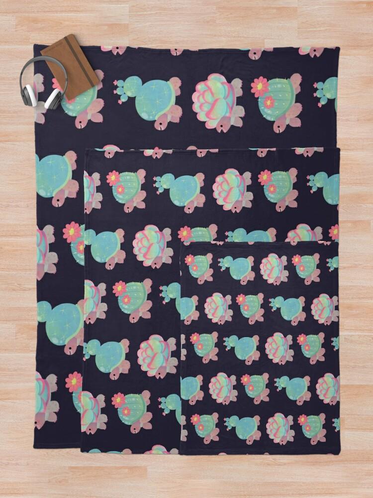 Alternate view of Cactus tortoise Throw Blanket