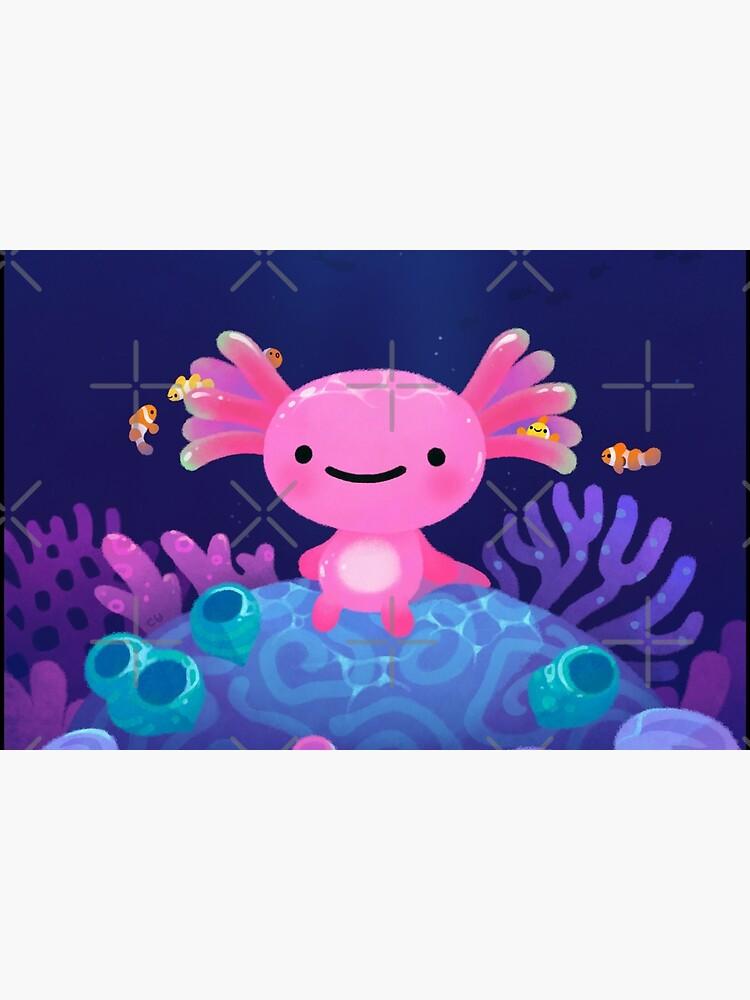 Coral axolotl by pikaole