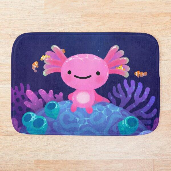 Axolotl de coral Alfombra de baño