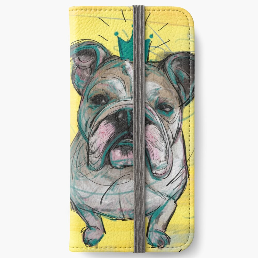 Bulldoggen Prinzessin iPhone Flip-Case