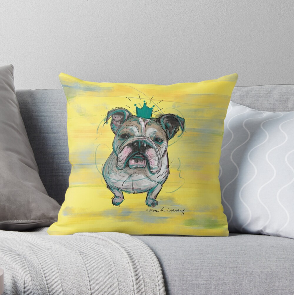 Bulldoggen Prinzessin Dekokissen