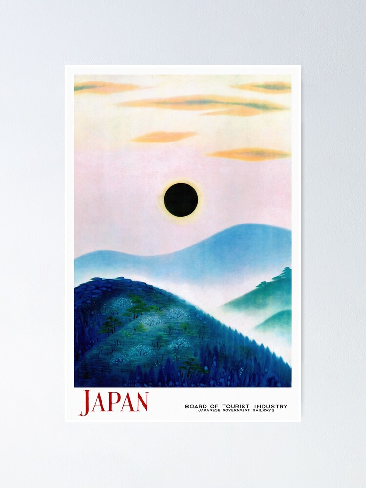 Alternate view of Very rare Japan Vintage Travel Poster Restored Poster