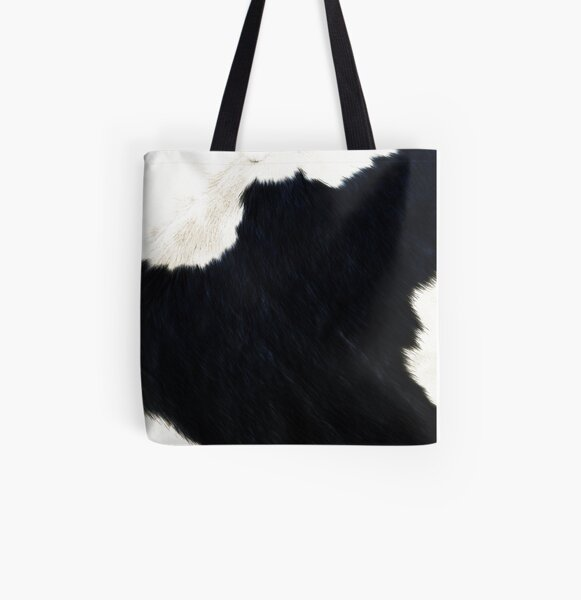 Minimal Faux Calf Cowhide All Over Print Tote Bag
