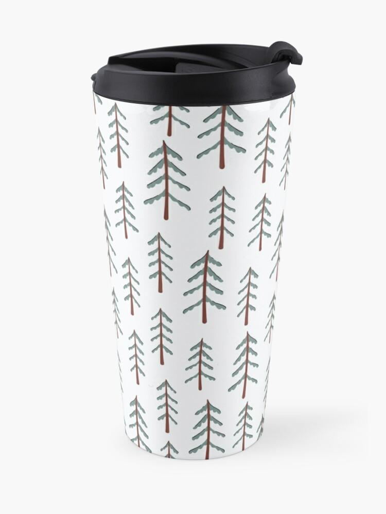 Alternate view of Fir tree doodle wood  Travel Mug