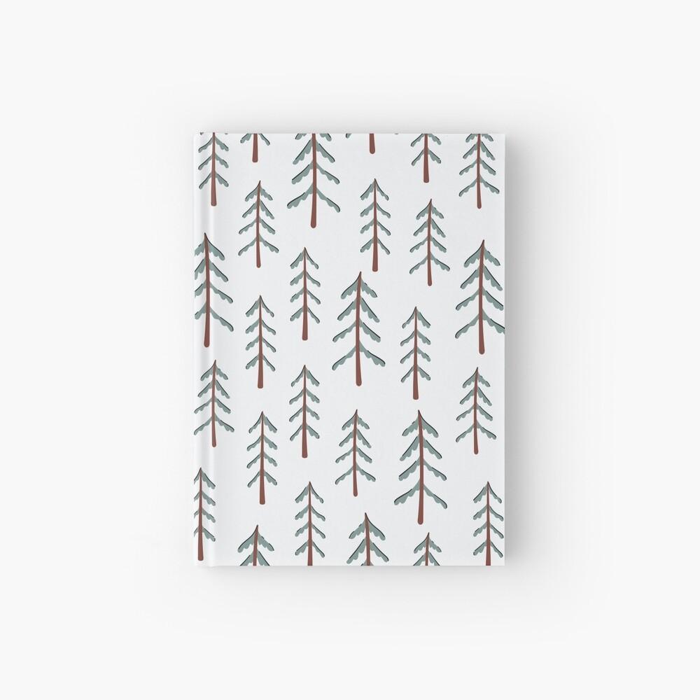Fir tree doodle wood  Hardcover Journal