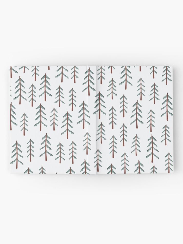 Alternate view of Fir tree doodle wood  Hardcover Journal