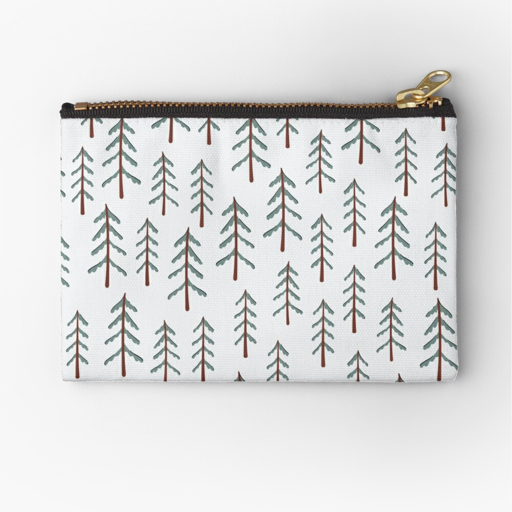Abstract Tiles Pattern Canvas Change Coin Purse Retro Change Cash Bag With Zip