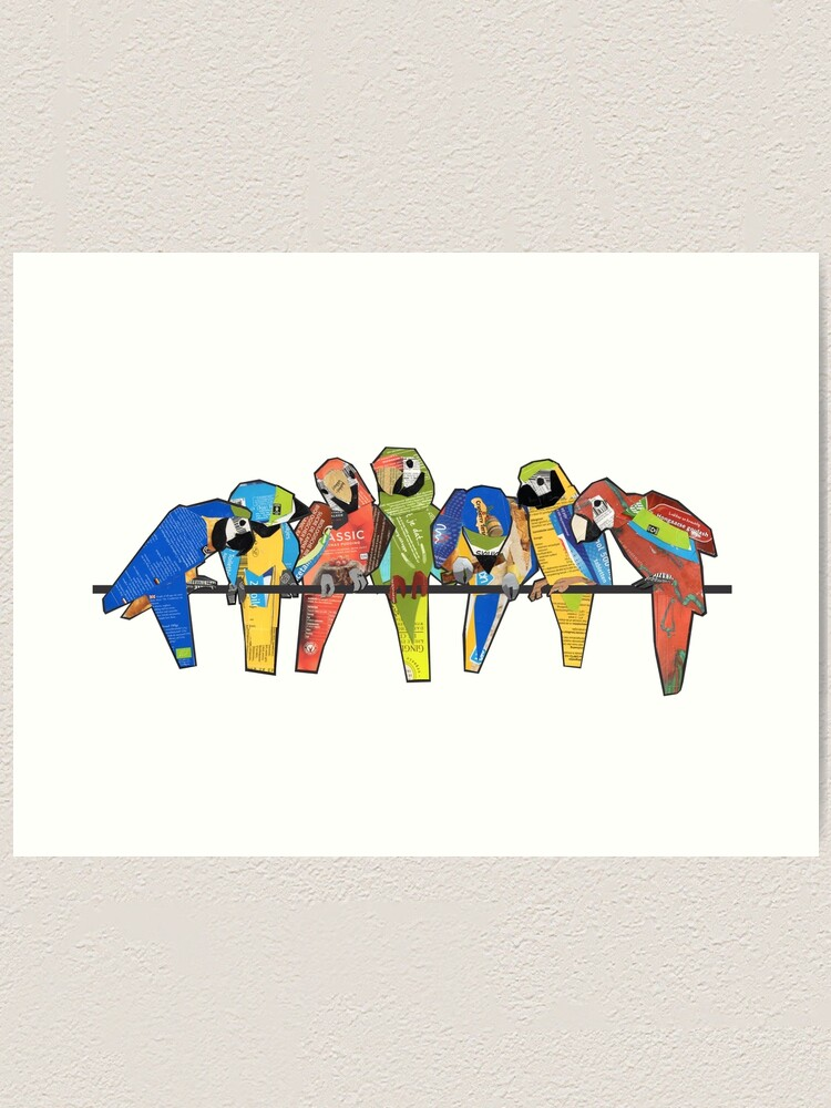 Alternate view of Seven Macaws Art Print