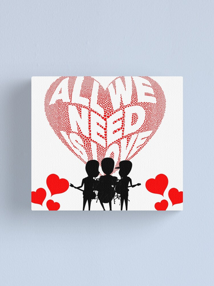 Alternate view of All We Need is Love Beat Band Canvas Print
