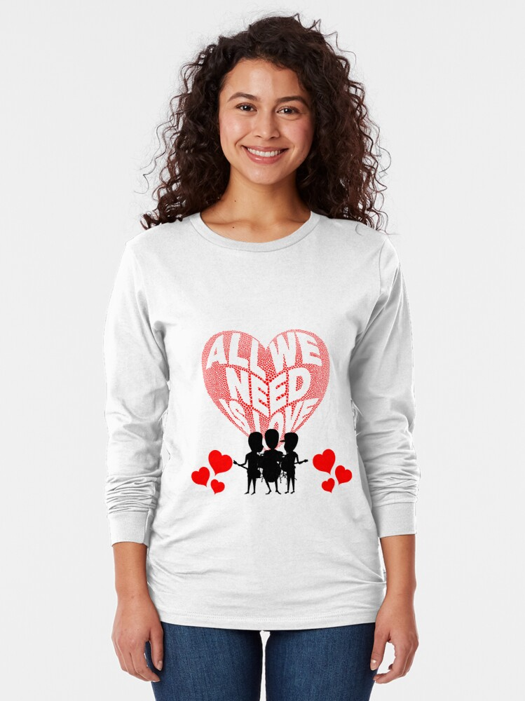Alternate view of All We Need is Love Beat Band Long Sleeve T-Shirt