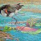 Jacana at Mareeba Wetlands by TallabeenaArt
