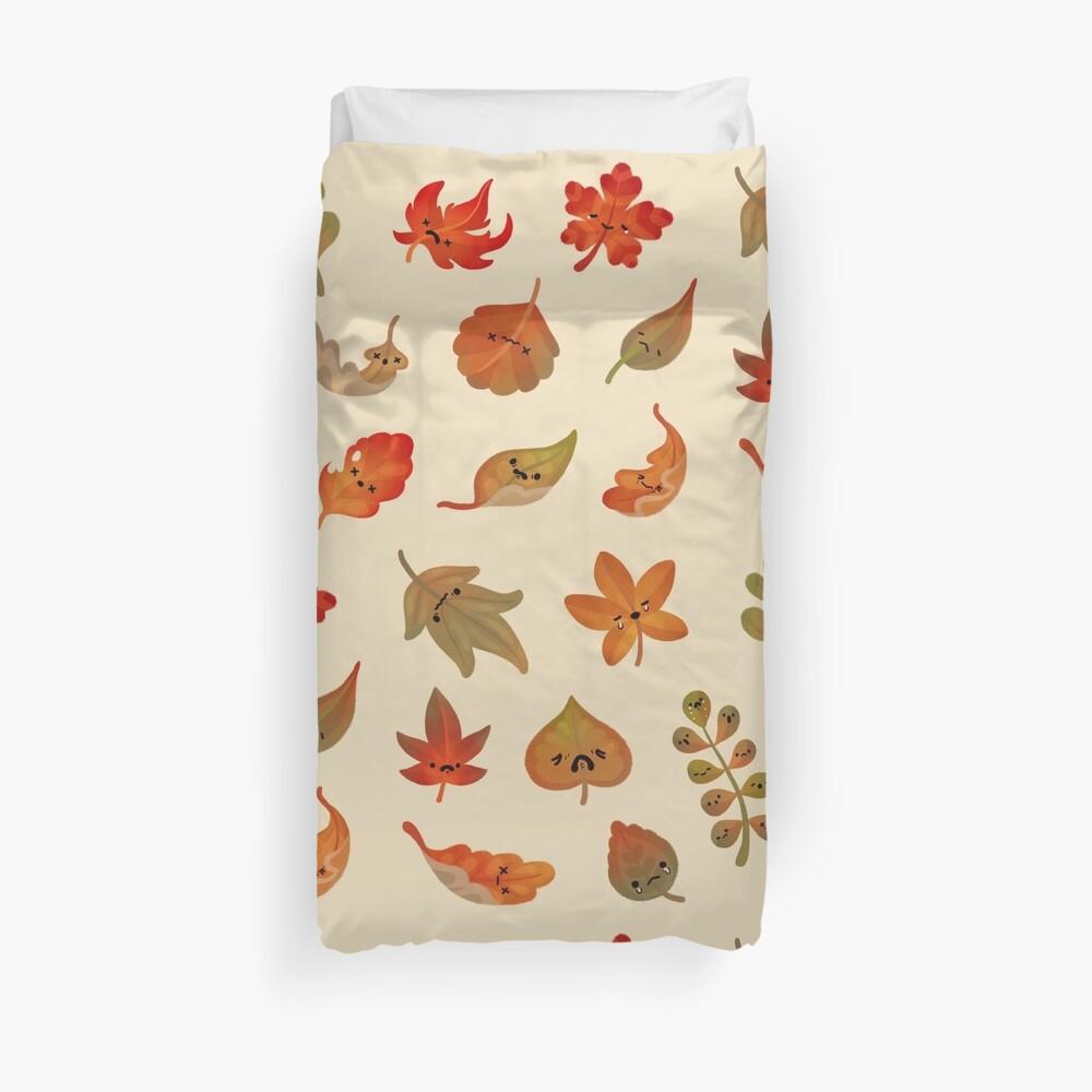 Sad fallen leaves Duvet Cover