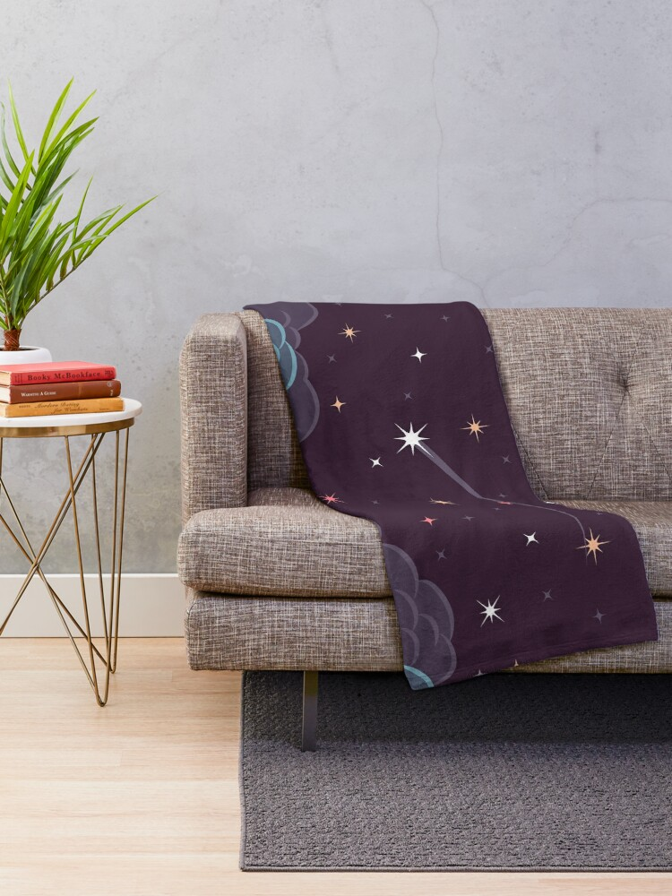 Alternate view of Falling Star Throw Blanket