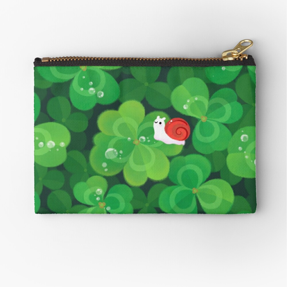 Happy lucky snail Zipper Pouch