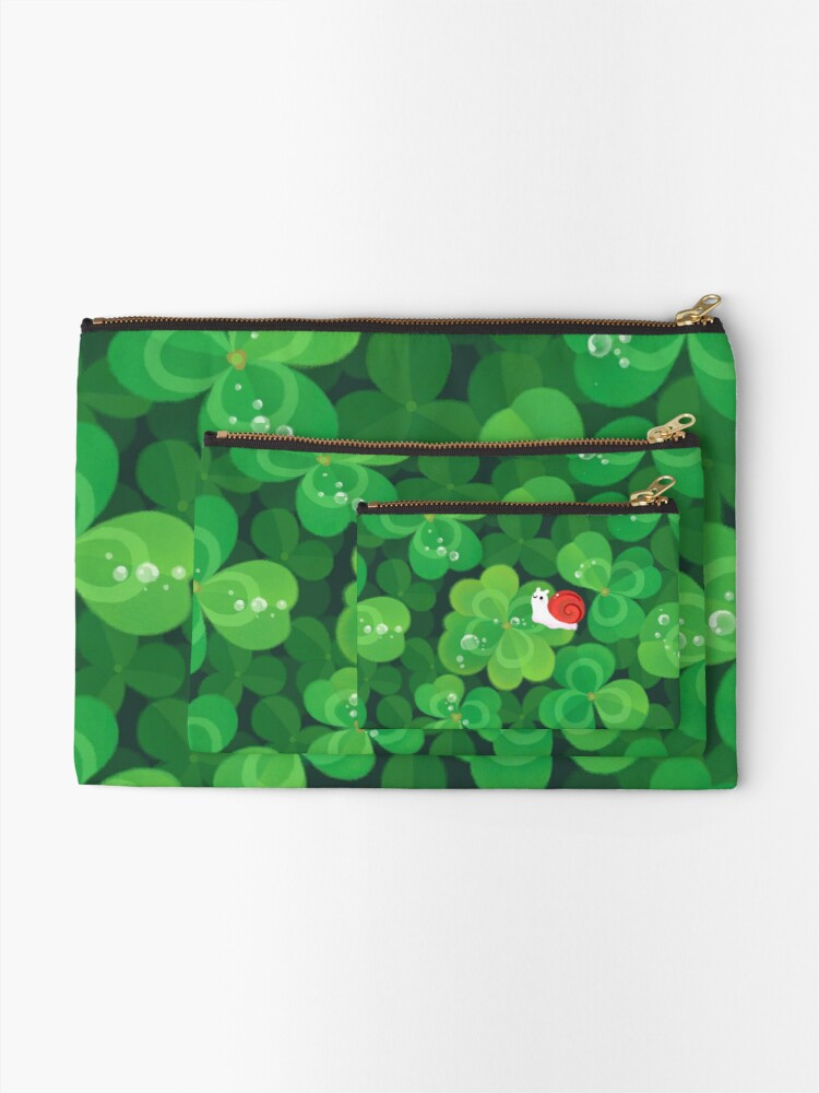Alternate view of Happy lucky snail Zipper Pouch