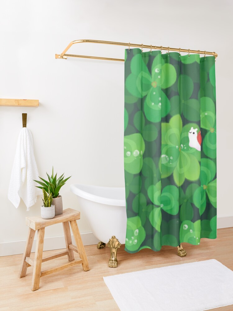 Alternate view of Happy lucky snail Shower Curtain