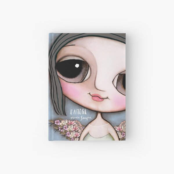 """Our Angel Maria Sole. """"L'Amore vince sempre"""" Hardcover Journal"""