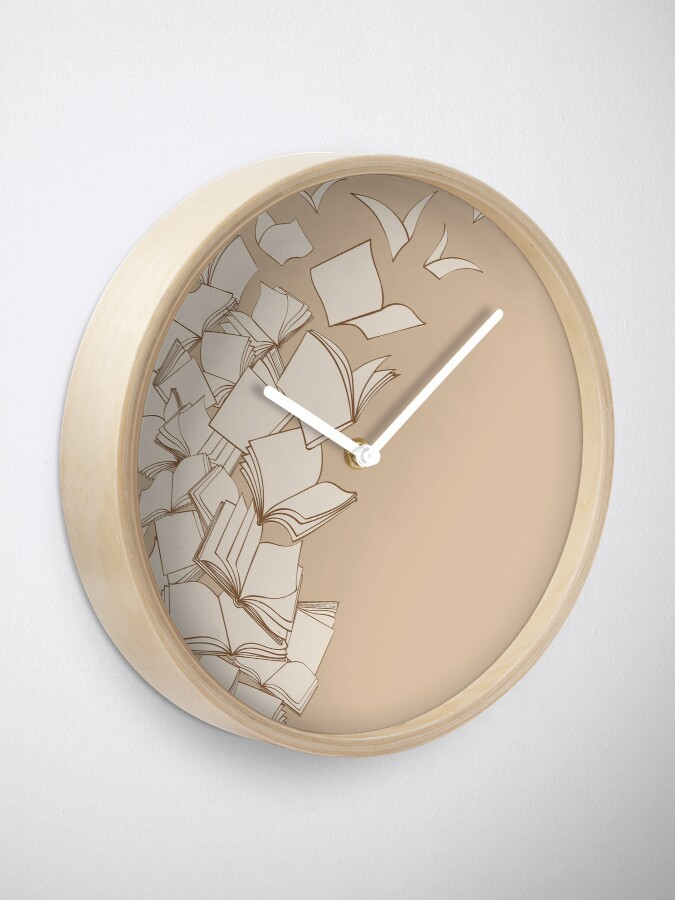 Alternate view of Books Clock