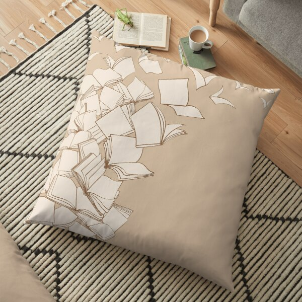 Books Floor Pillow