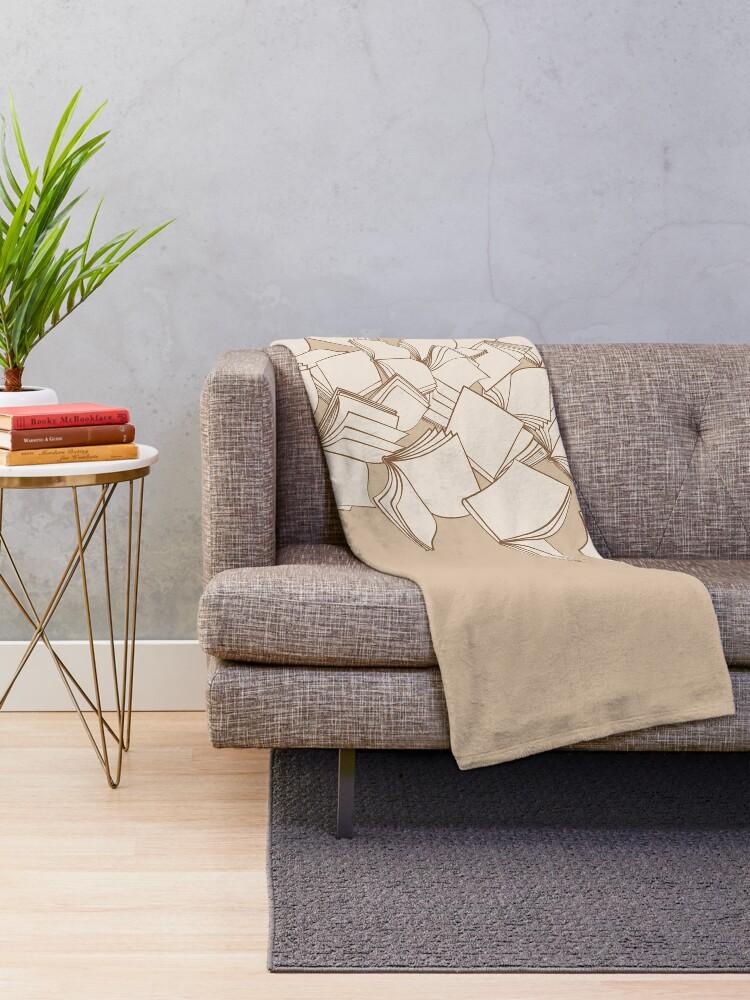Alternate view of Books Throw Blanket