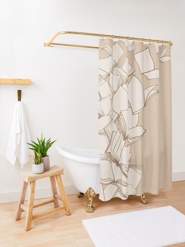 Alternate view of Books Shower Curtain