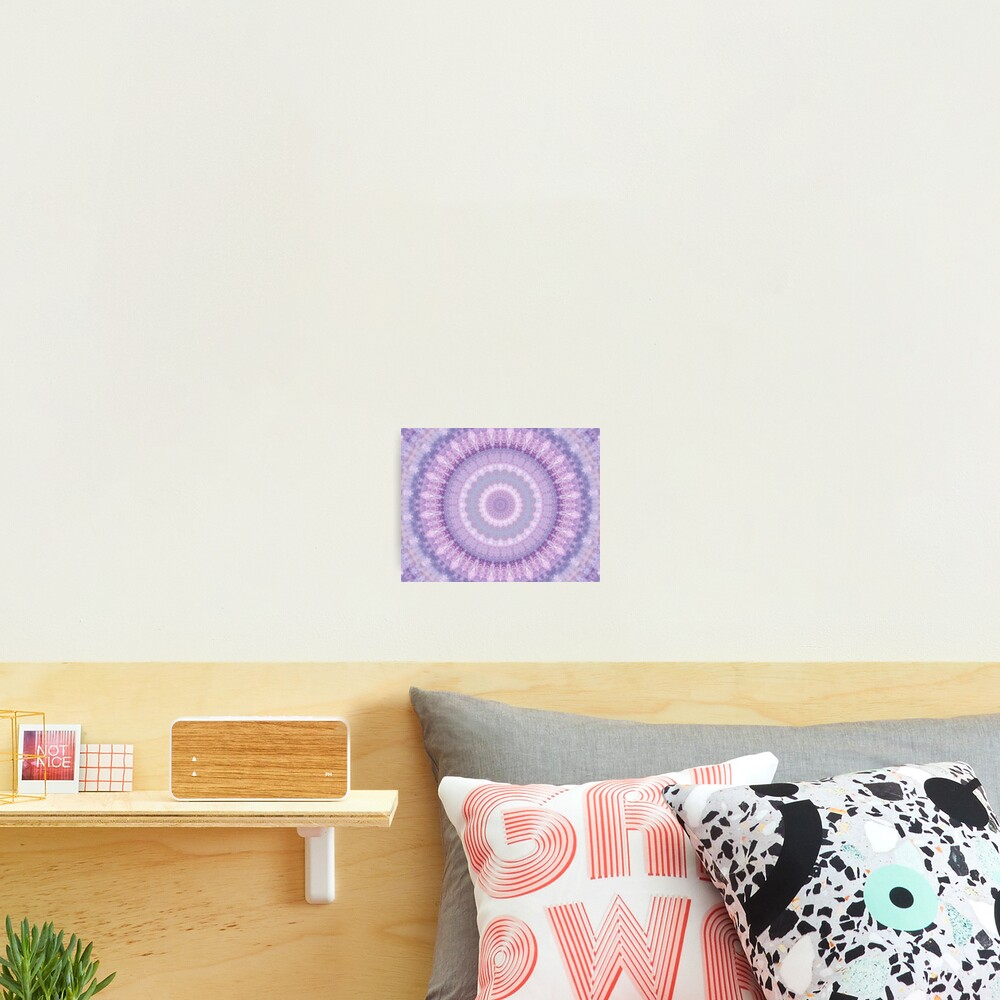 Lilac Kaleidoscope Photographic Print